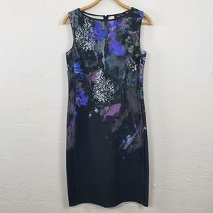 RICKIE FREEMAN TERI JONS Black/Grey Dress Size 8